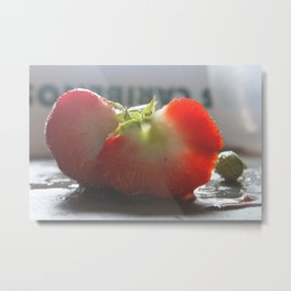 Kitchen Still Life: I Heart You (Strawberry Still Life) Metal Print