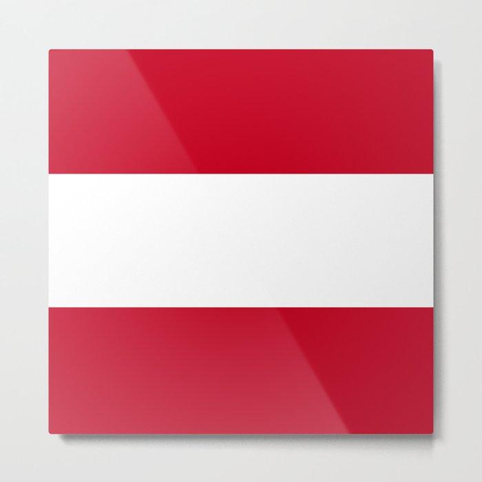 Austria flag emblem Metal Print