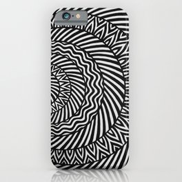 Kinetic Black and White Mandala iPhone Case