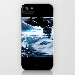 Concept Art Upside Down World iPhone Case