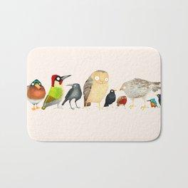 Woodland Bird Collection Bath Mat