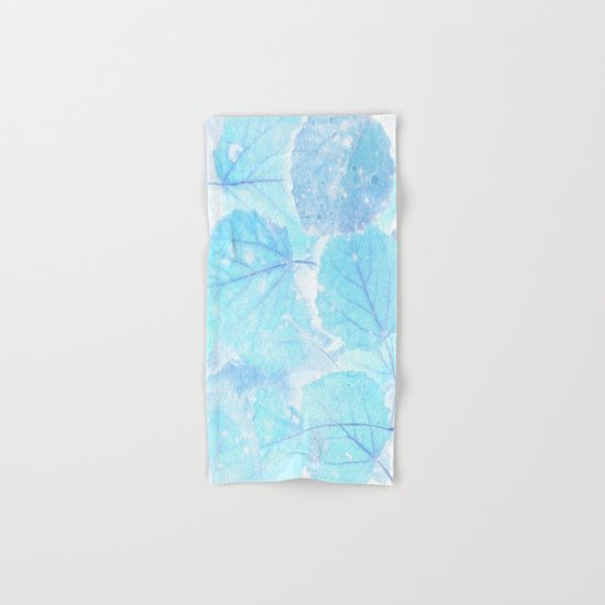 Blue autumn leaves Hand & Bath Towel