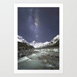 Starry Nights in Mt Cook, New Zealand Art Print