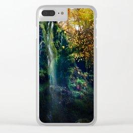 Mallyan Spout Waterfall Clear iPhone Case