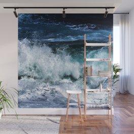 Dark Blue Waves Wall Mural