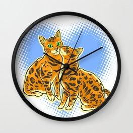 SmoochyCats Wall Clock