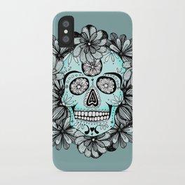 Blue Sugar iPhone Case