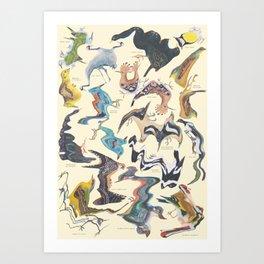 Skewed Birds Art Print