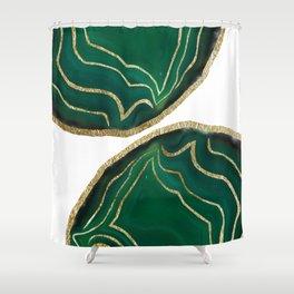 Emerald Agate Gold Glam #1 #gem #decor #art #society6 Shower Curtain