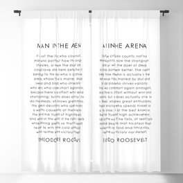 The man in the arena Blackout Curtain