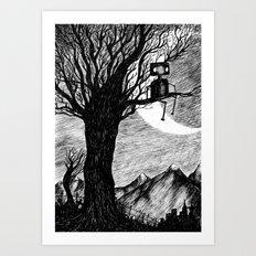 Lonely Robot Art Print