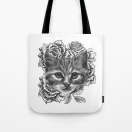 Flower Kitty Tote Bag