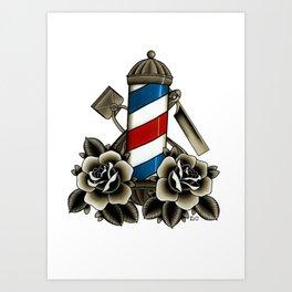 Barber's Life Art Print