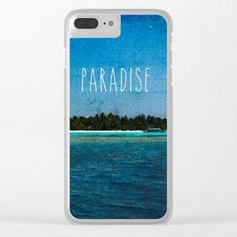 Lost Paradise Clear iPhone Case