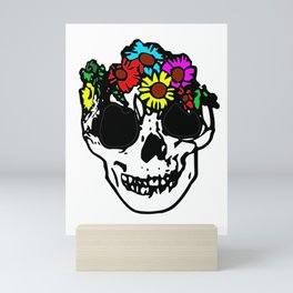 Flowerskull Mini Art Print