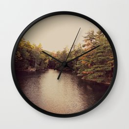 Early Autumn on Lake George Wall Clock