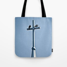 Perched on a Steeple Tote Bag