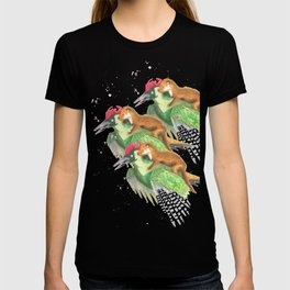 Weasel Riding Woodpecker Gang T-shirt