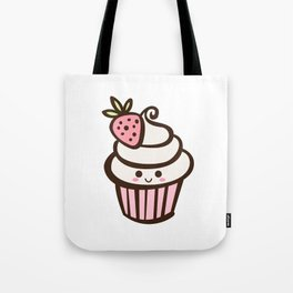 Happy Strawberry Cupcake Tote Bag