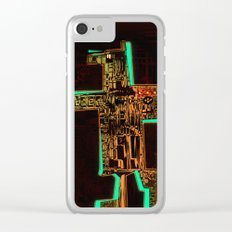 Spatial Robotic City Lab Clear iPhone Case