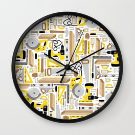 Measure Twice, Cut Once Wall Clock