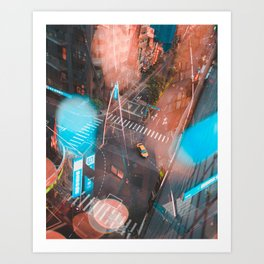 Lonely Taxi Art Print