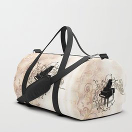 Music, piano with key notes and clef Duffle Bag