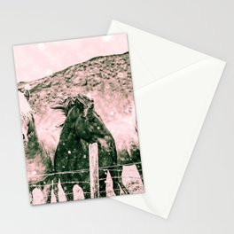 Southwest Horses Black and White Stationery Cards