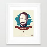 chvrches Framed Art Prints featuring Iain Cook - CHVRCHES by Derek Brown