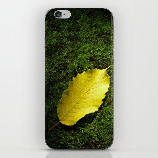 yellow autumn leaf I iPhone Skin