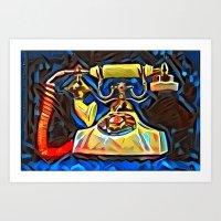 kandinsky Art Prints featuring Calling Kandinsky by Detailicious