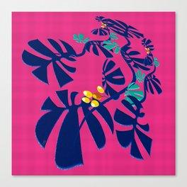 Weaving Monstera Canvas Print