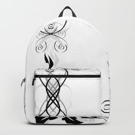 Frame with abstract rose Backpack