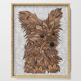 Cute Yorkie Serving Tray