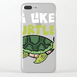Cute I Love Turtle Heart Tortoise Gift Design Idea  design Clear iPhone Case