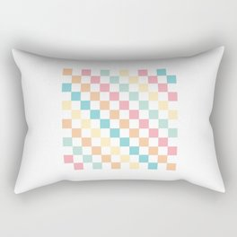 Checkered Rainbow Vintage Rectangular Pillow