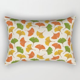 Fall ginkgo biloba leaves pattern Rectangular Pillow