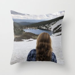 St Marys glacier Colorado Throw Pillow