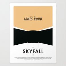 James Bond Skyfall - Minimalist Poster Art Print