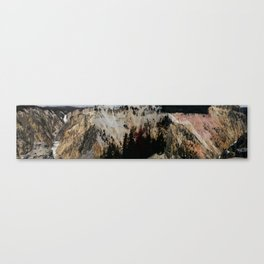 Yellowstone National Park Mountain Range Canvas Print
