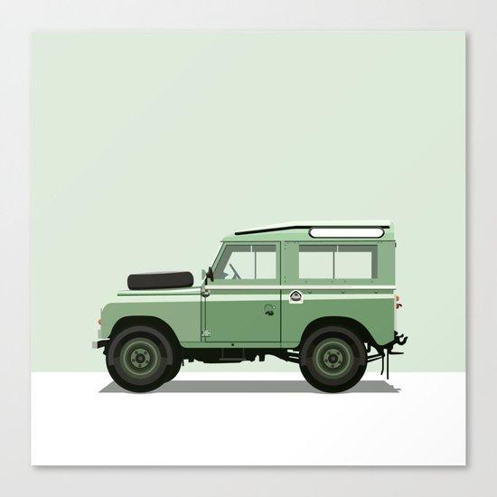 Car illustration - land rover Canvas Print