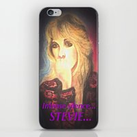 stevie nicks iPhone & iPod Skins featuring Stevie Nicks- Intense Silence by Anne Merritt