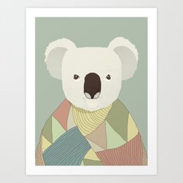 Whimsical Koala II Art Print