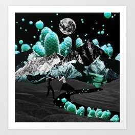 Jumping into another world Art Print