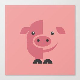 Mr. Piggy Canvas Print