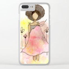 Splotch Girl - Freedom Cut Me Loose Clear iPhone Case