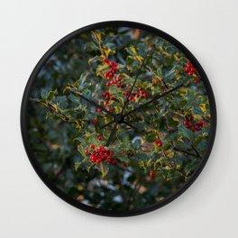 The last light of winter Wall Clock