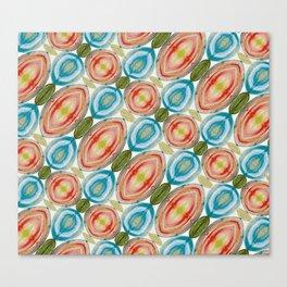 Vibrant Geometric Rainbow Canvas Print