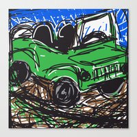 jeep Canvas Prints featuring jeep by Rimadi