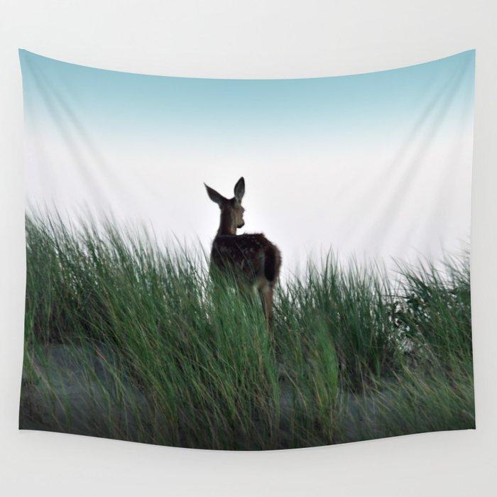 Deer Stop Wall Tapestry